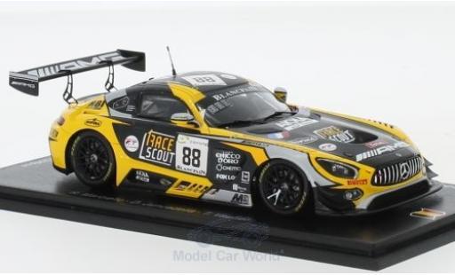 Mercedes AMG GT 1/43 Spark 3 No.88 AMG Team AKKa ASP 24h Spa 2018 R.Marciello/D.Juncadella/T.Vautier diecast model cars