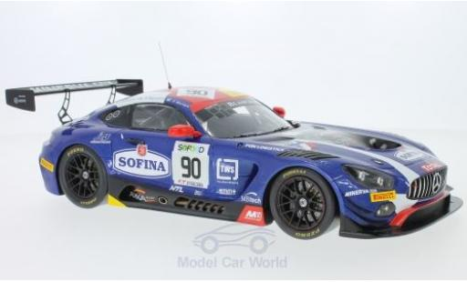 Mercedes AMG GT 1/18 Spark 3 No.90 AKKA ASP 24h Spa 2017 E.Mortara/M.Meadows/R.Marciello diecast model cars