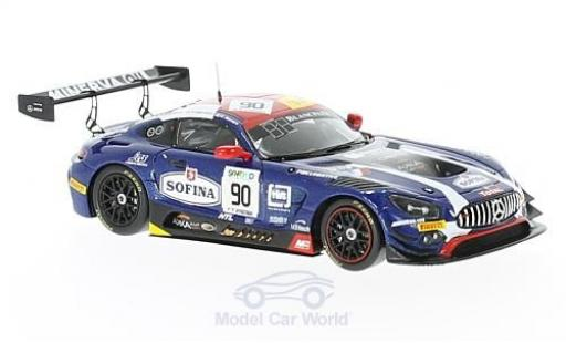 Mercedes AMG GT 1/43 Spark 3 No.90 AKKA ASP Blancpain Endurance Series 24h Spa 2017 E.Mortara/M.Meadows/R.Marciello diecast model cars