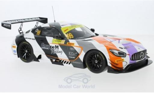 Mercedes AMG GT 1/18 Spark 3 No.999 AMG Team GruppeM Racing GT Cup Macau 2017 M.Engel miniature