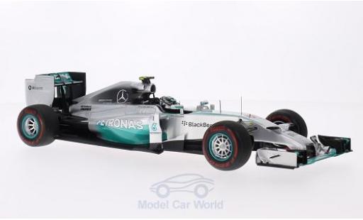 Mercedes F1 1/18 Spark W05 Hybrid No.6 AMG Formel 1 Team Petronas Formel 1 GP Monaco 2014 N.Rosberg miniature