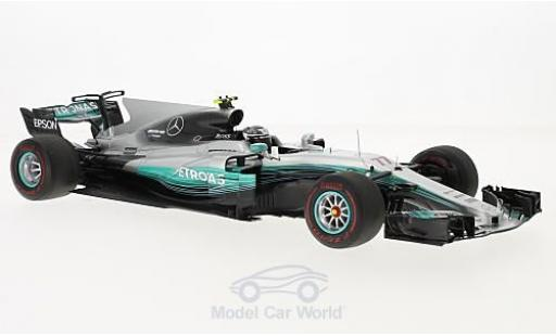 Mercedes F1 1/18 Spark W08 EQ Power+ No.77 AMG Petronas Motorsport Formel 1 GP Russland 2017 V.Bottas miniature