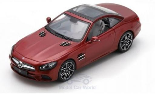 Mercedes Classe SL 1/43 Spark SL metallise red 2017 diecast model cars