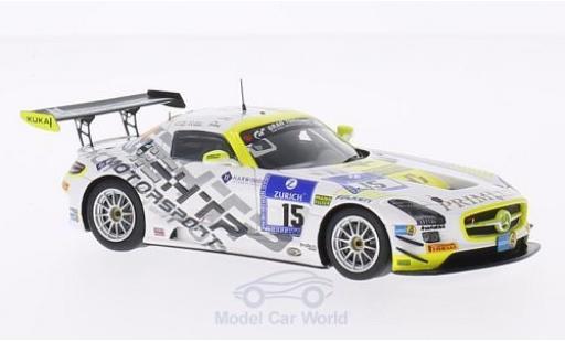 Mercedes SLS 1/43 Spark AMG GT3 No.15 HTP Motorsport GmbH 24h Nürburgring 2014 H.Primat/M.Götz/K.Heyer/R.Rehfeld miniature