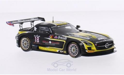 Mercedes SLS 1/43 Spark AMG GT3 No.18 Black Falcon Racing 24h Spa 2015 O.Morley/S.Johnston/M.Engel/B.Schneider miniature