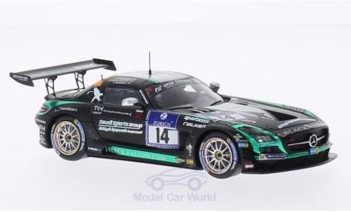Mercedes SLS 1/43 Spark AMG No.14 Black Falcon 24h Nürburgring 2014 A.Al Faisal/H.Haupt/A.Christodolou/Y.Buurman miniature