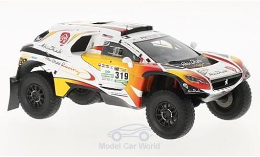 Peugeot 2008 1/43 Spark DKR No.319 Abu Dhabi Racing Rallye Dakar 2017 K.AI Qassimi/P.Maimon diecast