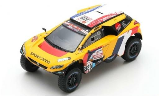 Peugeot 2008 1/43 Spark DKR No.325 PH-Sport Rallye Dakar 2019 P.Lachaume/J-M.Polato miniature