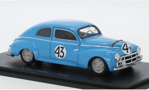 Peugeot 203 1/43 Spark C No.43 Alexandre Constantin 24h Le Mans 1952 A.Constantin/J.Poch miniature