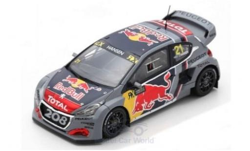 Peugeot 208 1/43 Spark WRX No.21 Team Total Red Bull World RX Belgien 2018 T.Hansen diecast model cars