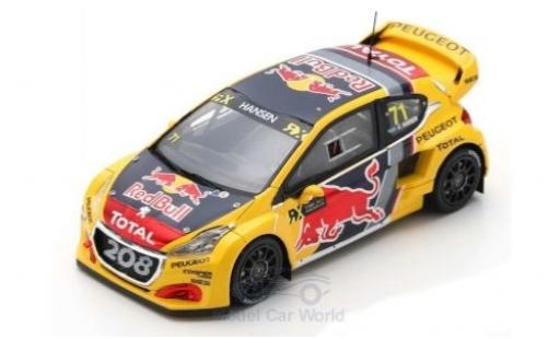 Peugeot 208 1/43 Spark WRX No.71 Team Total Red Bull World RX Großbritannien 2018 K.Hansen miniature