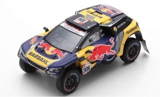 Peugeot 3008 1/43 Spark DKR No.306 PH-Sport Red Bull Rallye Dakar 2019 S.Loeb/D.Elena miniature
