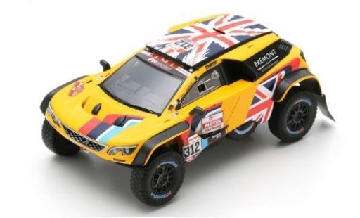 Peugeot 3008 1/43 Spark DKR No.312 PH-Sport Rallye Dakar 2019 H.Hunt/W.Rosegaar miniature