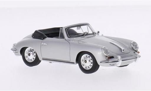 Porsche 356 1/43 Spark Carrera 2 Cabriolet grise Verdeck ouvert miniature