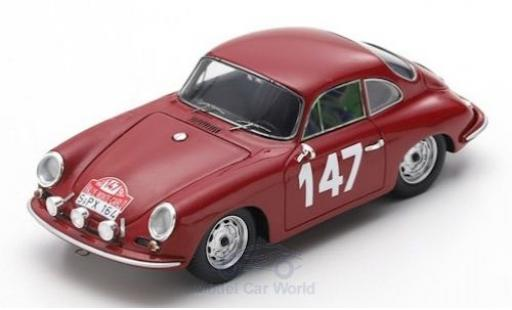 Porsche 356 1/43 Spark B 2000 GS-GT No.147 Rally Monte Carlo 1964 R.Buchet/M.Gauvin miniature
