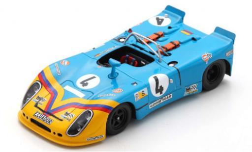 Porsche 908 1973 1/43 Spark /02 RHD No.4 24h Le Mans avec Decals G.Ortega/F.Merello