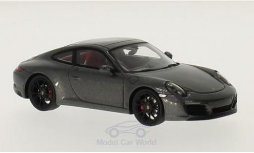 Porsche 991 S 1/43 Spark 911  Carrera metallise grey 2016 diecast model cars
