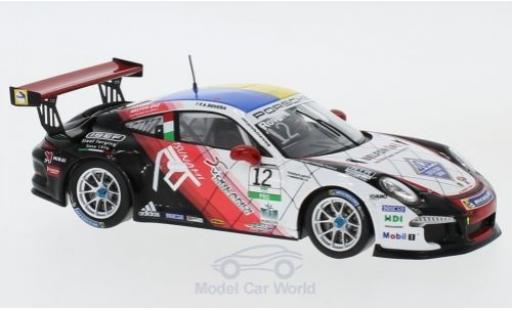 Porsche 991 GT3 Cup 1/43 Spark 911  No.12 Carrera Cup Italia 2017 A.Rovera diecast model cars
