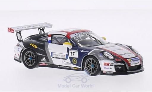 Porsche 991 SC 1/43 Spark (991) GT3 Cup No.17 Sebastien Loeb Racing Carrera Cup France 2015 M.Jousse miniature