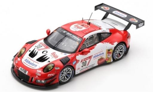 Porsche 992 GT3 R 1/43 Spark 911 (991) No.30 Frikadelli Racing Team 24h Nürburgring 2019 K.Abbelen/A.Müller/R.Renauer/T.Preining diecast model cars