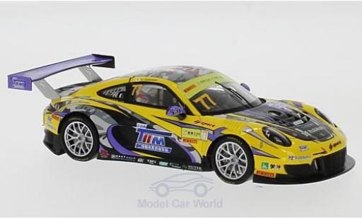 Porsche 991 GT3 R 1/43 Spark 911  No.77 HubAuto Racing Fia GT World Cup Macau 2017 H.Yoshimoto diecast model cars