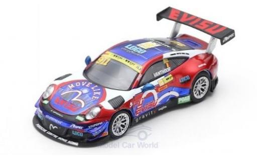 Porsche 991 GT3 R 1/64 Spark 911  No.911 Craft Bamboo Racing Fia GT World Cup Macau 2017 L.Vanthoor diecast model cars