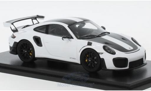 Porsche 911 1/43 Spark (991 II) GT2 RS white/black 2018 Weissach Package diecast
