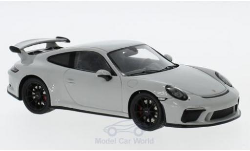 Porsche 991 GT3 1/43 Spark 911 ( II) grise 2018 miniature