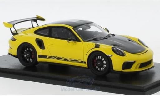 Porsche 991 GT3 RS 1/43 Spark 911 ( II) yellow/black 2018 Weissach Package diecast model cars