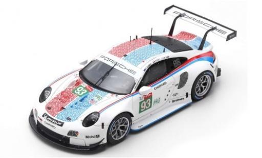 Porsche 992 RSR 1/87 Spark 911 (991) GTE No.93 GT Team LMGTE Pro 24h Le Mans 2019 P.Pilet/E.Bamber/N.Tandy diecast model cars