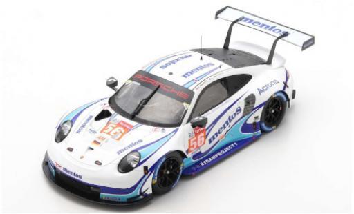 Porsche 992 RSR 1/18 Spark 911 (991) No.56 Team Project 1 24h Le Mans 2020 M.Cairoli/E.Perfetti/L.ten Voorde diecast model cars