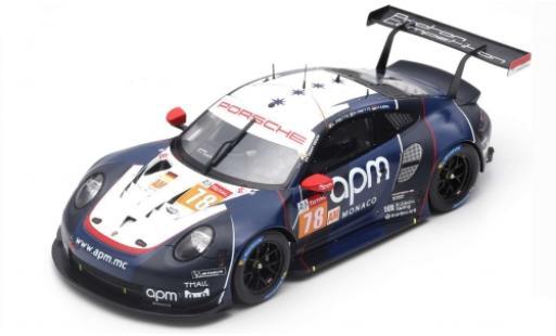 Porsche 992 RSR 1/43 Spark 911 (991) No.78 Prougeon Competition 24h Le Mans 2019 L.Prette/P.Prette/V.Abril miniature