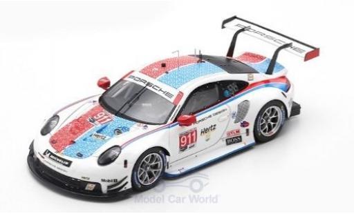 Porsche 911 1/64 Spark (991) RSR No.912 GT Team 24h Daytona 2019 E.Bamber/L.Vanthoor/M.Jaminet miniature