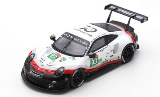 Porsche 911 1/12 Spark (991) RSR No.93 GT Team 24h Le Mans 2018 P.Pilet/N.Tandy/E.Bamber miniature