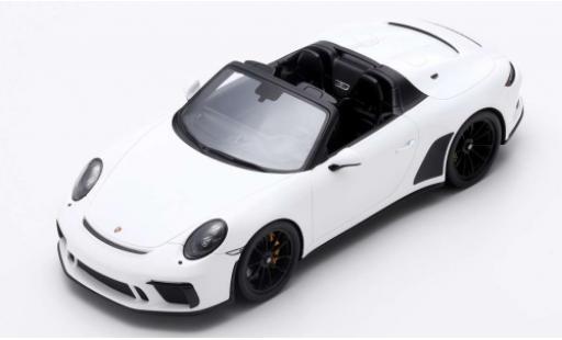 Porsche 992 Speedster 1/18 Spark 911 (991) blanche 2019 miniature