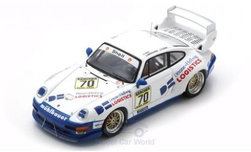 Porsche 993 GT2 1/43 Spark 911  No.70 1000km Paris 1995 S.Oberndorfer/D.Hübner modellino in miniatura