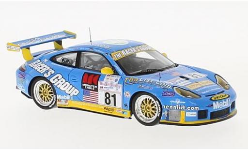 Porsche 996 GT3 1/43 Spark 911  -RS No.81 24h Le Mans 2002 K.Buckler/T.Bernhard/L.Luhr modellino in miniatura