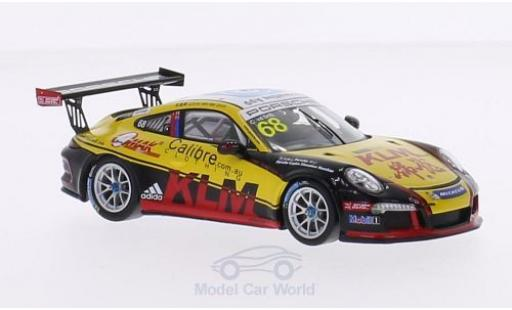 Porsche 991 GT3 Cup 1/43 Spark 911 (997) No.68 Kamlung Racing Carrera Cup Asia 2015 C.van der Drift diecast model cars