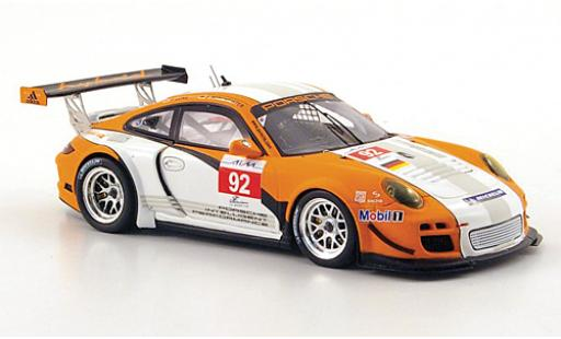 Porsche 997 GT3 1/43 Spark 911  R hybrid No.92 ILMC 1000km Zhuhai 2010 J.Bergmeister diecast model cars
