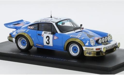 Porsche 930 RS 1/43 Spark 911 Carrera 2.7 No.3 Almeras Frere Gitanes Rallye Monte Carlo 1978 y compris les Decals J-P.Nicolas/V.Laverne miniature