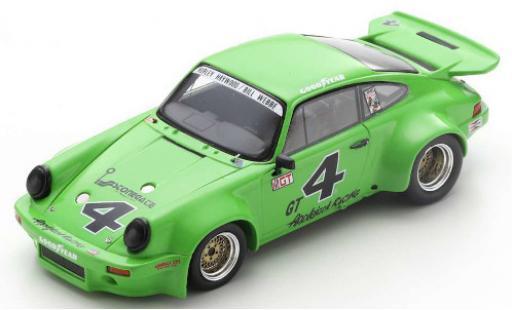 Porsche 930 RSR 1/43 Spark 911 Carrera 3.0 No.4 Applejack Racing IMSA GT Laguna Seca 1974 H.Haywood/B.Webbe diecast model cars
