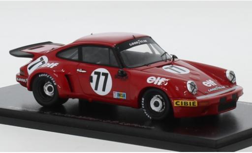 Porsche 930 RSR 1/43 Spark 911 Carrera 3.0 No.77 Team Tom Waugh elf (F) 24h Le Mans 1976 T.Waugh/J.Rulon-Miller/J-P.Laffeach miniature
