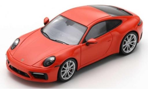 Porsche 992 S 1/43 Spark 911 Carrera  red 2019 diecast model cars