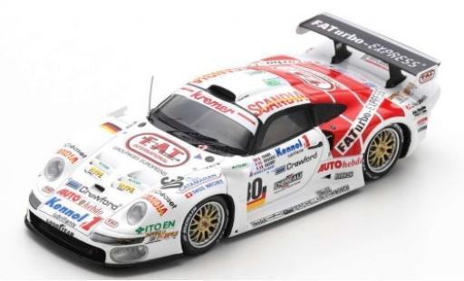 Porsche 996 Turbo 1/43 Spark 911 GT1 No.30 Kremer Racing FA-Express 24h Le Mans 1997 B.Gachot/A.Evans/C.Bouchut diecast model cars