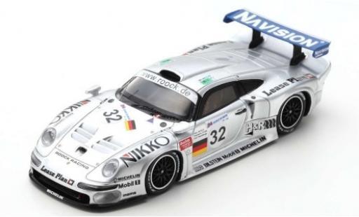 Porsche 996 GT1 1/43 Spark 911 No.32 Roock Racing 24h Le Mans 1997 A.McNish/S.Ortelli/K.Wendlinger diecast model cars