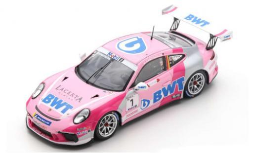 Porsche 992 GT3 1/43 Spark 911 Cup No.1 Lechner Racing BWT Carrera Supercup 2019 M.Ammermüller diecast model cars