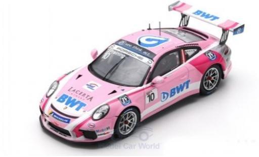 Porsche 991 GT3 Cup 1/43 Spark 911 No.10 BWT Lechner Racing Carrera Cup Deutschland 2018 T.Preining diecast model cars