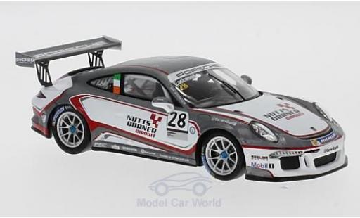 Porsche 991 GT3 Cup 1/43 Spark 911 No.28 Carrera Cup Britain 2017 C.Eastwood diecast model cars