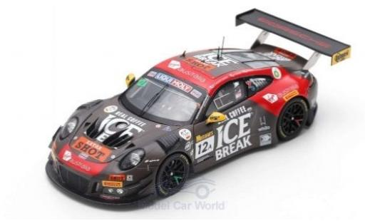 Porsche 992 GT3 R 1/43 Spark 911 No.12 Competition Motorsports/McElrea Racing 12h Bathurst 2019 D.Calvert-Jones/K.Estre/J.Evans diecast model cars