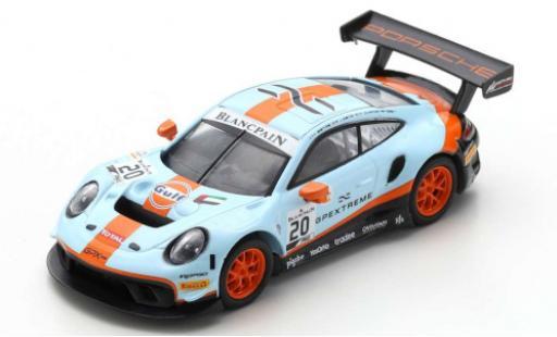 Porsche 992 GT3 R 1/43 Spark 911 No.20 GPX Racing Gulf 24h Spa 2019 R.Lietz/M.Christensen/K.Estre diecast model cars